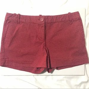 LOFT Red/White Polka Dot Shorts